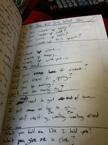 early version of lyrics
